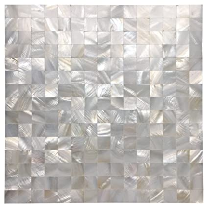 Mother Of Pearl >> Amazon Com Art3d White Seamless Mother Of Pearl Tile Shell Mosaic