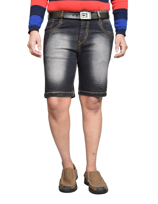 Buy American Noti Black Denim Shorts for Men | Cotton Jeans Half Pants for  Men | Stylish Mens Shorts | Stretchable Shorts for Men | Cotton Denim Shorts  for Men |Denim Bermuda