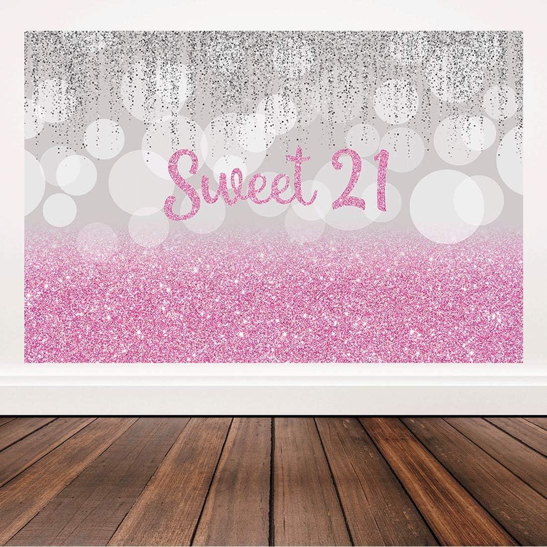 Bellimas Pink Happy Birthday Sweet 21 Hintergrund Kamera