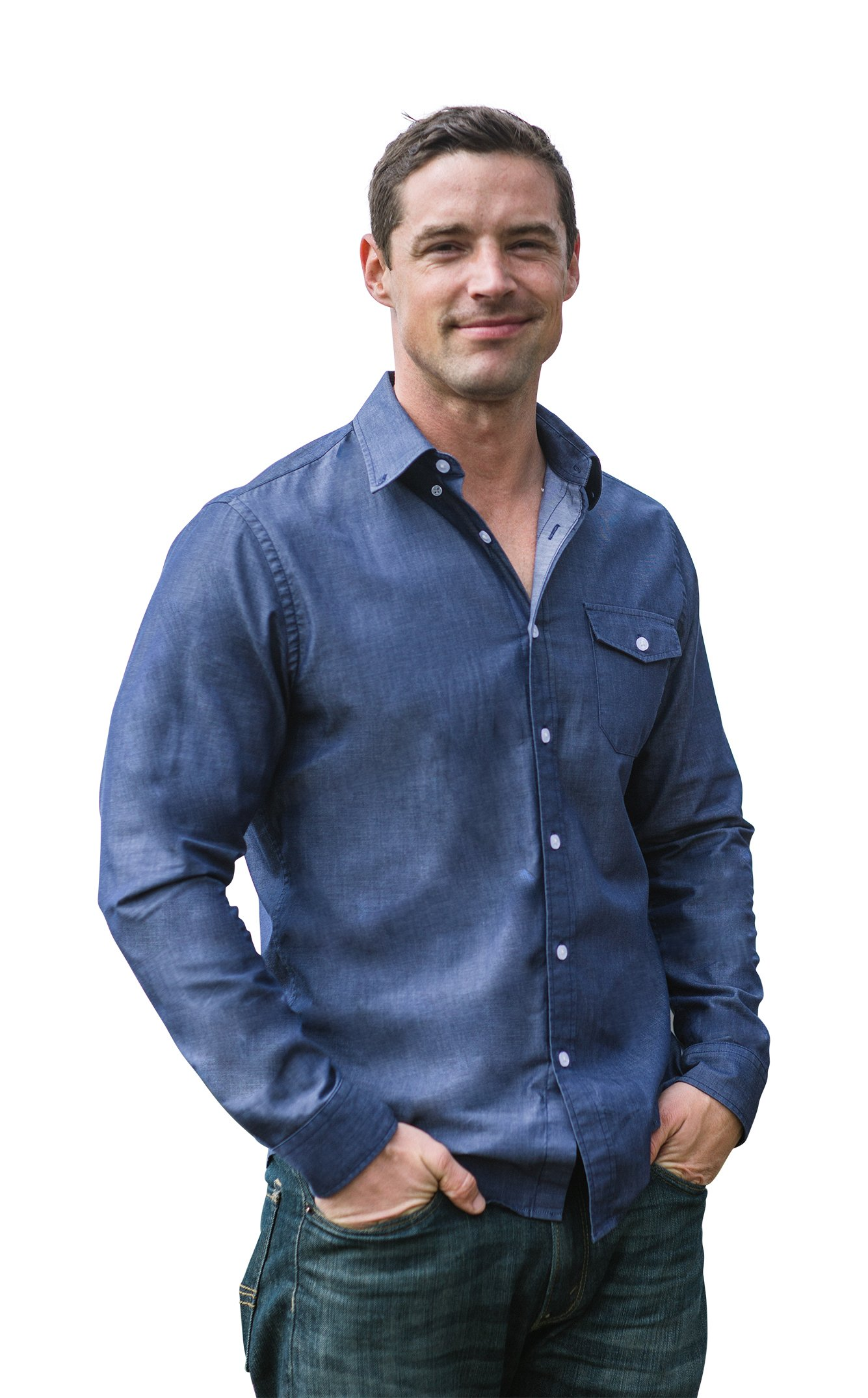 The Best Shirt Ever - Stainproof, Waterproof, Sweat-wicking Men's Button Down (XL, Chambray) by Clickbait Clothing