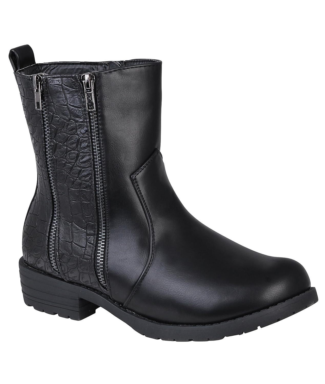 Botines de Cocodrilo Estilo Motero [Negro,40]: Amazon.es: Zapatos y complementos