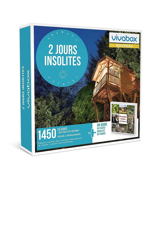 VIVABOX - Coffret cadeau - 2 JOURS INSOLITES - Inclus 1450 activités au choix + Un guide de visites insolites. Coffret d'activités valable 3 ans à partir de la date d'achat. WONDERBOX