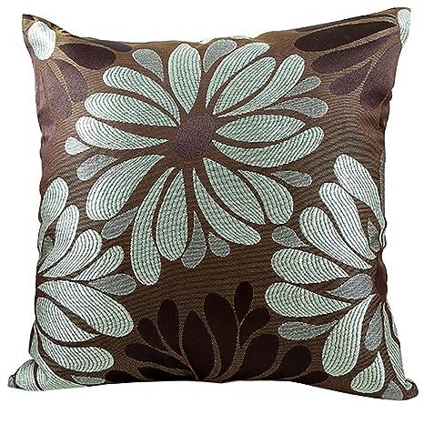 Amazon.com: Tela fundas de cojines de flores de lujo sofá ...
