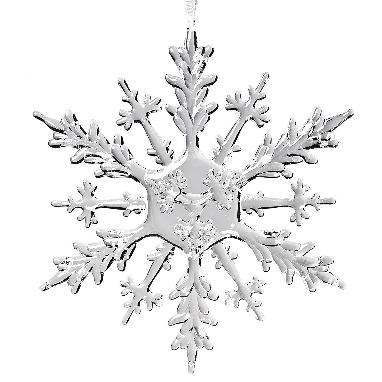 amazon com abbott collection flat acrylic snowflake ornament 12