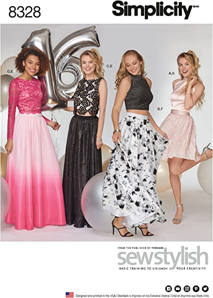 Simplicity Creative Patterns US8328D5 Sewing Pattern Special Occasion 4-6-8-10-12 D5