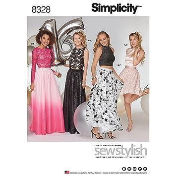 Simplicity Muster 12–14–16–18–20 Schnittmuster Besondere Anlässe ...