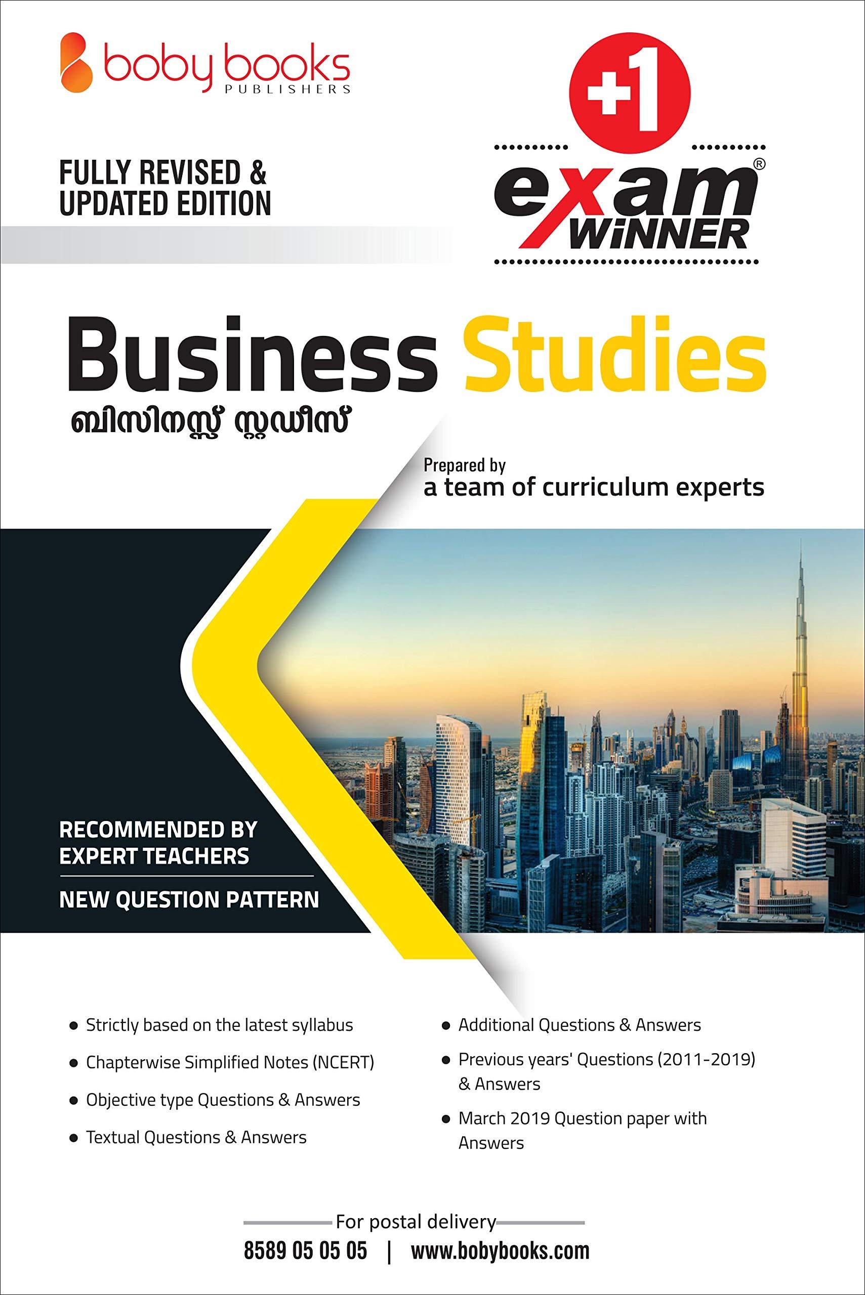 Buy Plus One / Class 11 Business Studies Exam Winner Boby