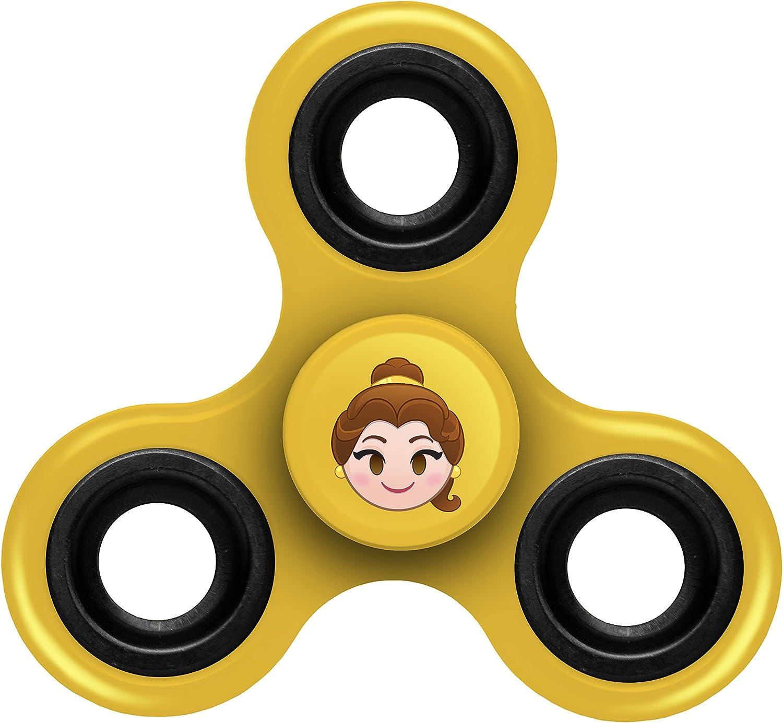 FOCO Disney Princess Diztracto Spinnerz Three Way Set-Belle Spinner Toy Yellow 3 x 2.75