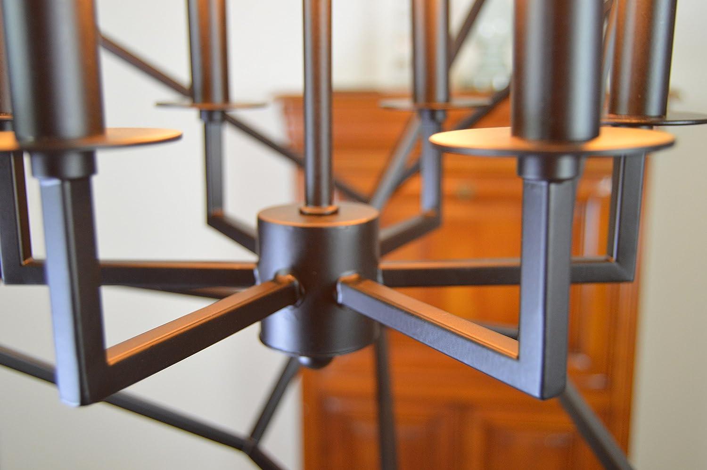 AA Warehousing LZ20812-6BK Y-D cor Electrified 6 Light Chandelier in Black,