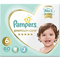 Pampers Premium care Diapers, Size 6, Extra Large, 13+ kg, Mega Box, 60 Count
