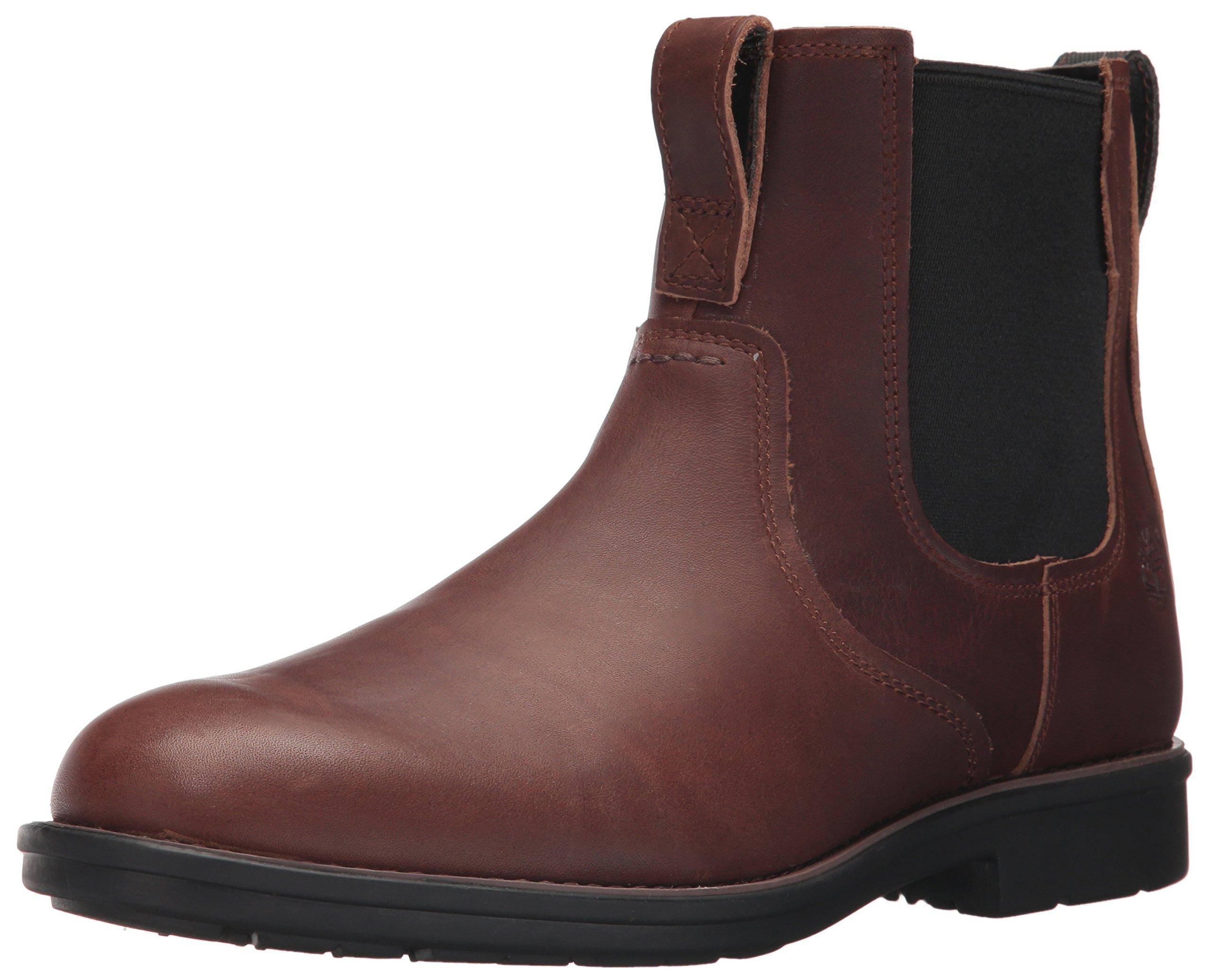 Timberland Men's Carter Notch Chelsea Boot, Dark Brown Full Grain, 10 D(M) US