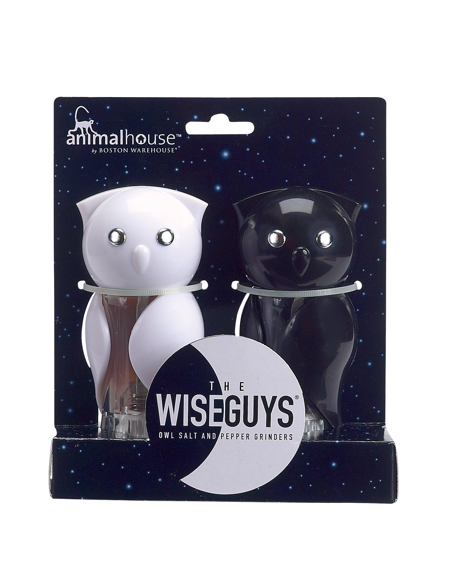 Boston Warehouse Animal House Wise Guys Salt and Pepper Grinder Set