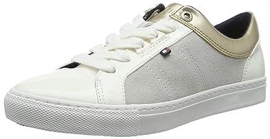 Tommy Hilfiger V1285ALI 8C, Baskets Basses Femme, Blanc