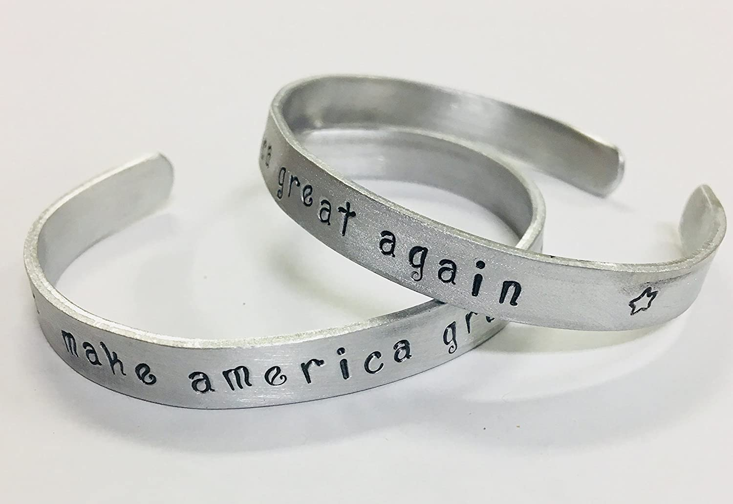 Make America Great Again, Women's Bracelet Trump Republican Supporter Election 2016, non tarnish aluminum cuff bracelet