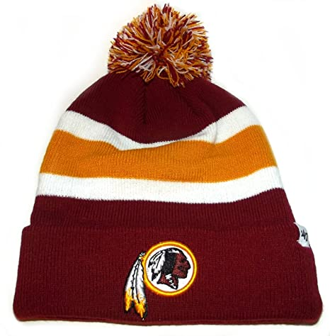 c1f839b36b0c09 Image Unavailable. Image not available for. Color: NEW! 47 Brand NFL  Washington Redskins Knit Cuffed POM Breakaway Beanie Skull Cap