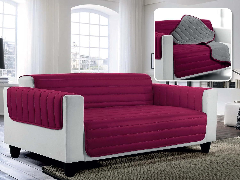 100/% Mikrofaser Elegant Couch/überz/üge Doubleface Apfel gr/ün//dunkel blau 2 Pl/ätze 1