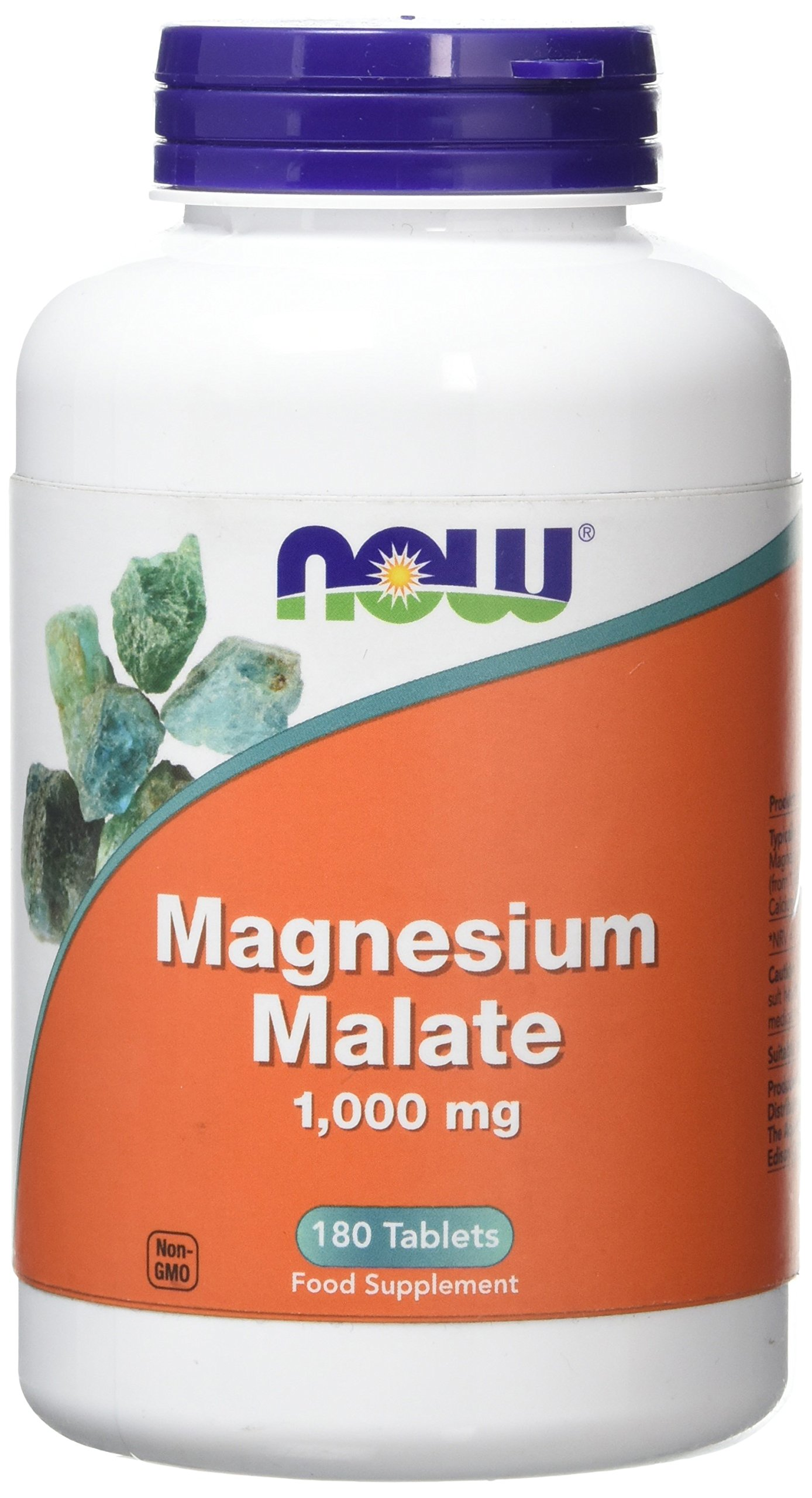 Now Foods Magnesium Malate, 1000 mg, 180 Tablets