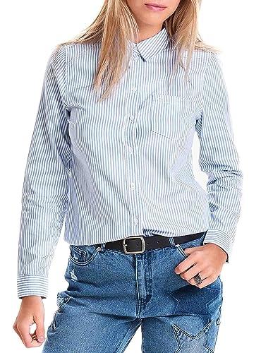 Only Camisa Rock Stripe Azul