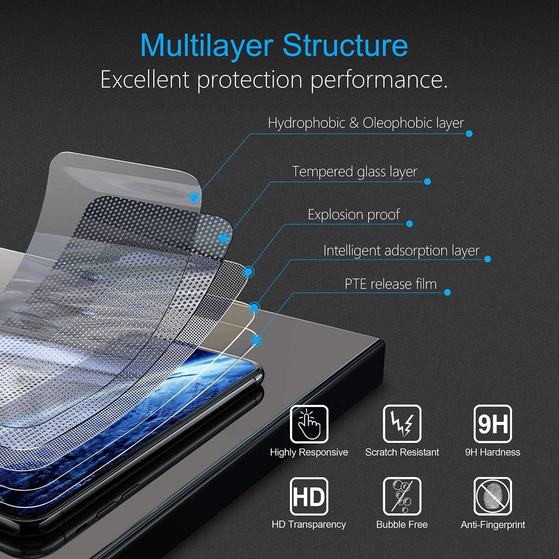 LAFCH Transparent HD Protection D/écran Compatible avec Galaxy J7 2016 9H Duret/é Film Protection Anti Rayures 3 Pi/èces Verre Tremp/é pour Samsung Galaxy J7 2016