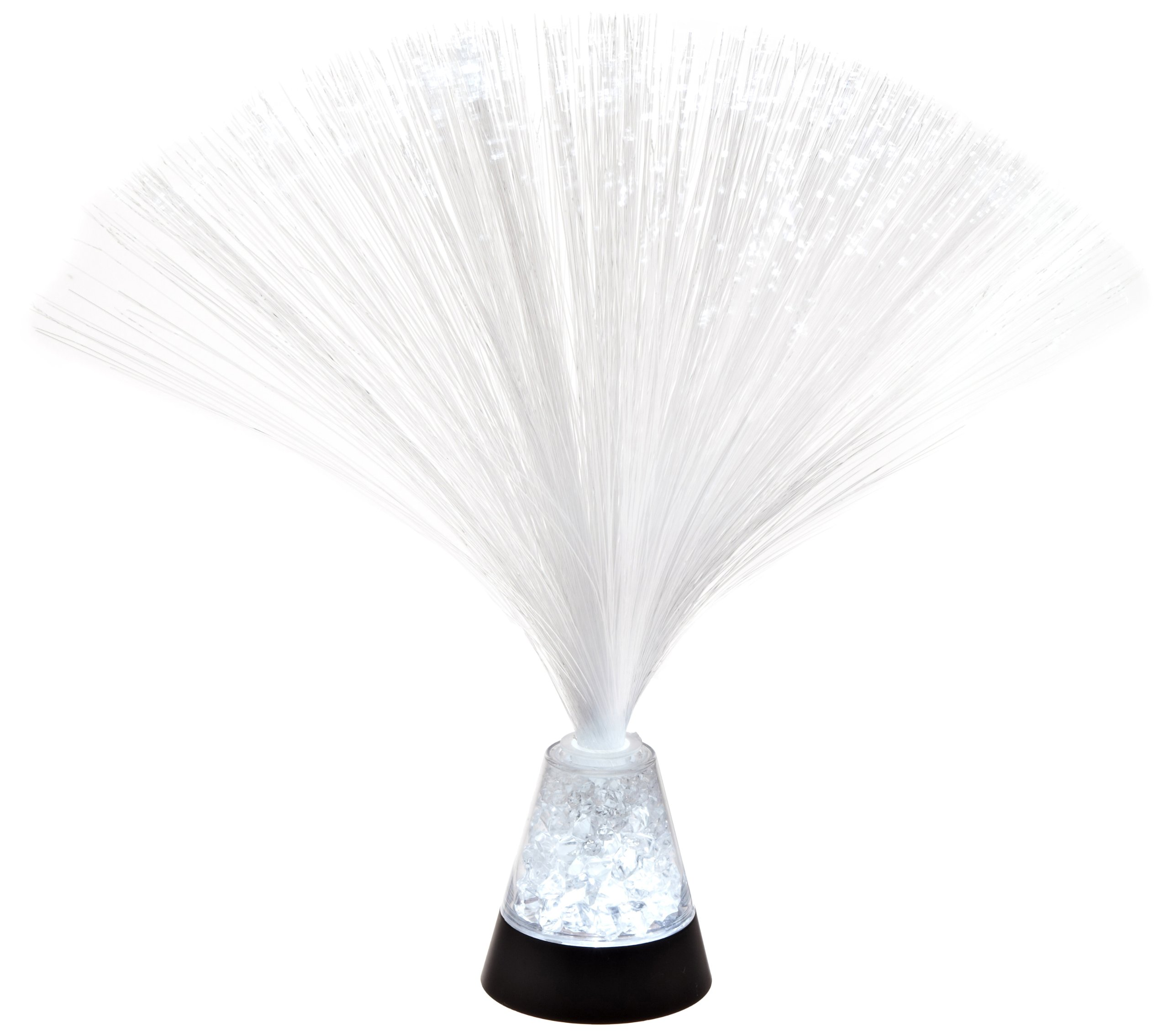 Fortune Products FOL-325C Crystal Crushed Fiber Optic LED Lamp, 3'' Base Width x 3-1/4 Base Height, 9-3/4 Tall