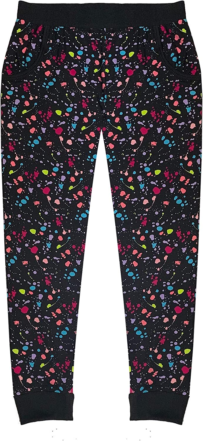 8//10 Splatter Paint Popular Girls Joggers with Pockets