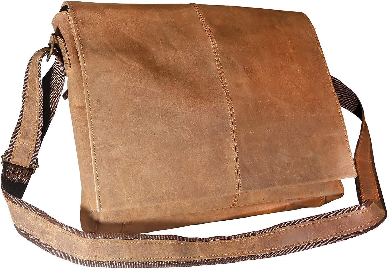 Leather Prime Handmade Cross body Satchel Genuine Leather Laptop Messenger Bag 15 inch Vintage