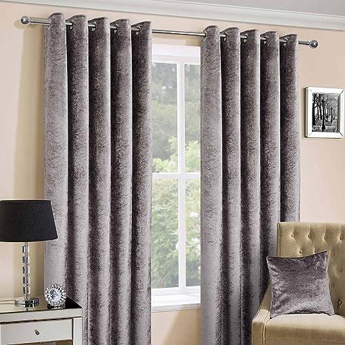 grey velvet curtains. Black Bedroom Furniture Sets. Home Design Ideas