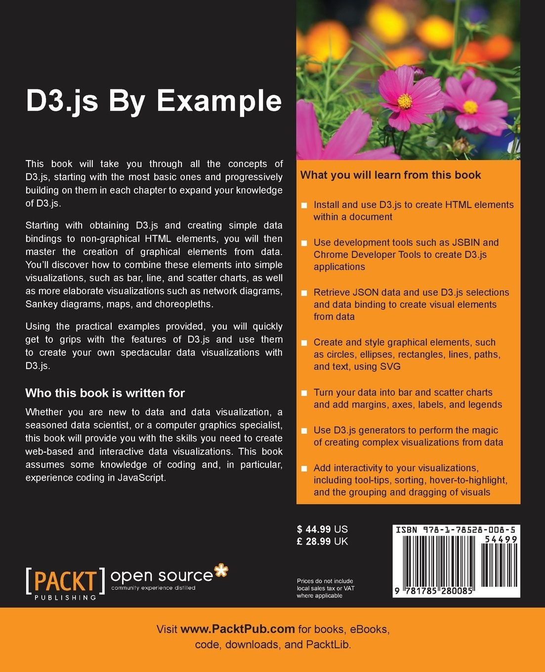 D3 js By Example: Michael Heydt: 9781785280085: Amazon com