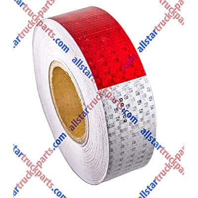 "[ALL STAR TRUCK PARTS] Conspicuity Tape DOT-C2 Approved Reflective Truck Trailer Red White 2""x150' -1 Roll: Automotive"
