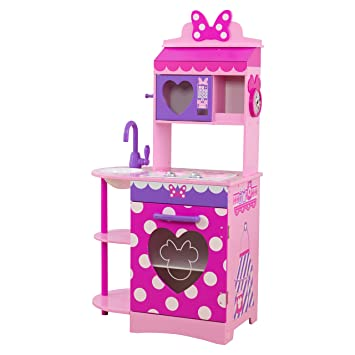 Amazon.com: KidKraft Disney Jr. Minnie Mouse Toddler Kitchen Play ...
