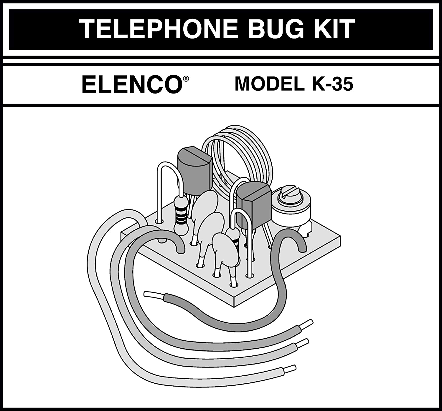 Elenco Telephone Bug Soldering Kit Required From Snap Circuits Micro Courtesy Electronics Inc Toys Games