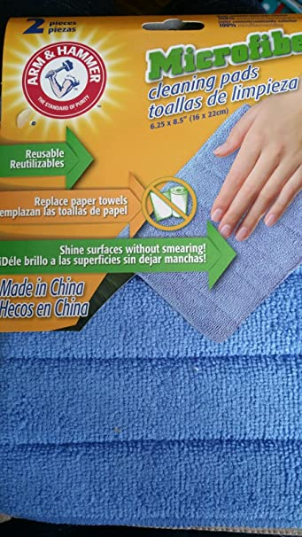 Arm & Hammer Microfiber Cleaning Pads 2-Pads in a Pack