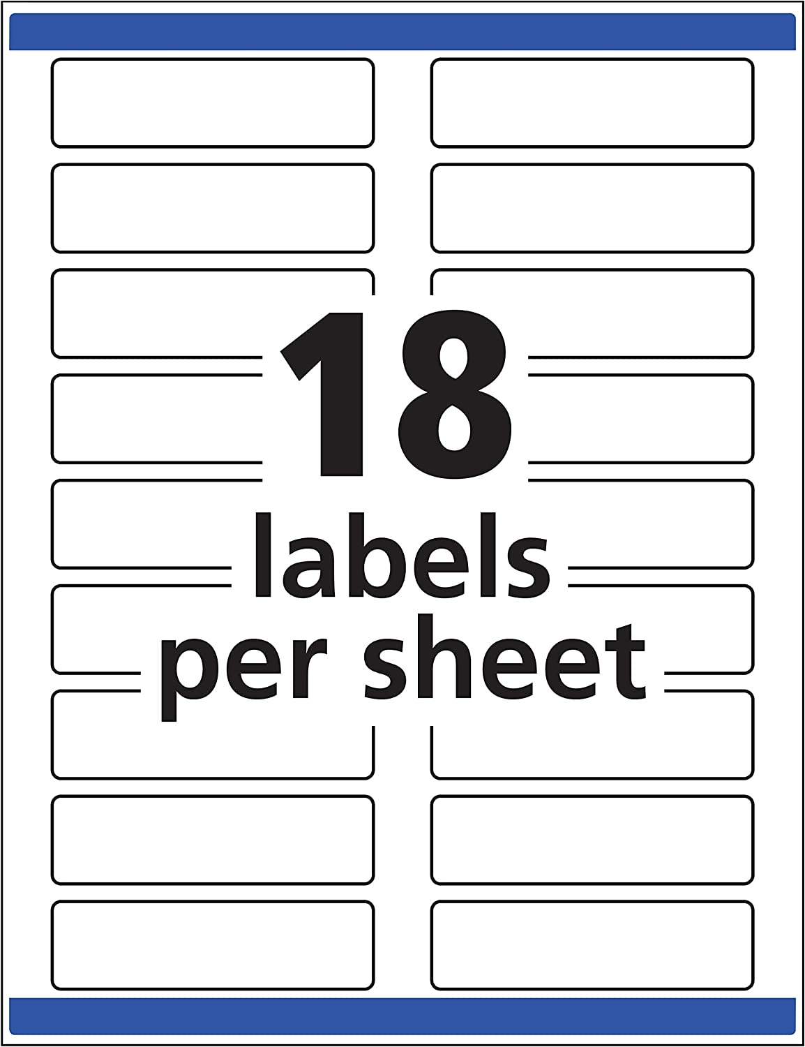 Avery White Extra-Large File Folder Labels for Laser and Inkjet Printers with TrueBlock Technology, 15/16 inches x 3-7/16 inches, Pack of 450 (5027) : Office Products