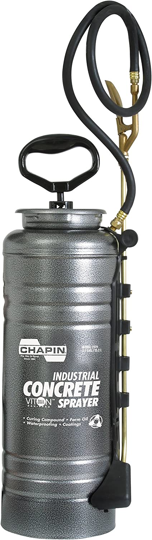 Chapin International 1979 Industrial 3.5-Gallon Viton Concrete Open Head Sprayer with Filter, 3.5-Gallon (1 Sprayer/Package), Silver