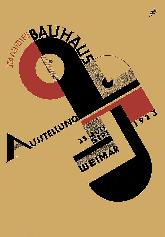BAUHAUS 1923 WEIMAR EXHIBITION by Rudolf Baschant 250gsm Reproduction A3 Poster