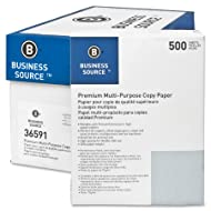 "Business Source Premium Multipurpose Copy Paper- Letter, 8 1/2"" x 11"" (36591CT)"