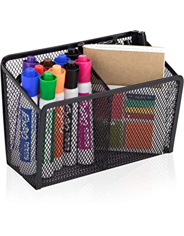 Workablez Magnetic Pencil Holder - 2 Generous Compartments Magnetic Storage Basket Organizer - Extra Strong Magnets