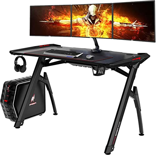 AuAg 47″ Gaming Style Desk Computer Home Office Desk Student Table PC Desk
