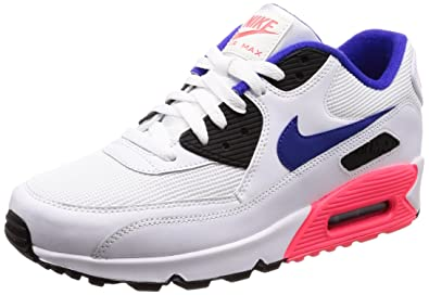 half off d40fc bddbf Nike Air Max 90 Essential, Baskets Homme, Blanc (White Bleu Ultramarine-