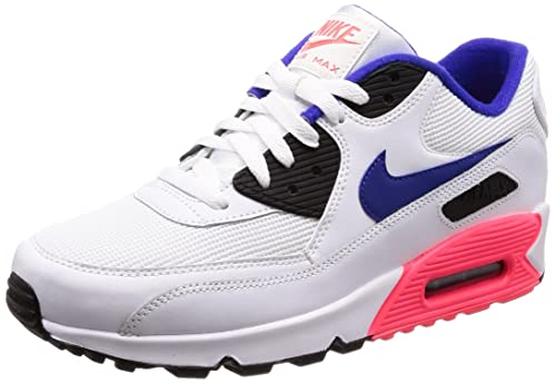 reputable site 2a6ba 81fab Nike Men s Air Max 90 Essential Gymnastics Shoes, Multicolor (White  Ultramarine Solar