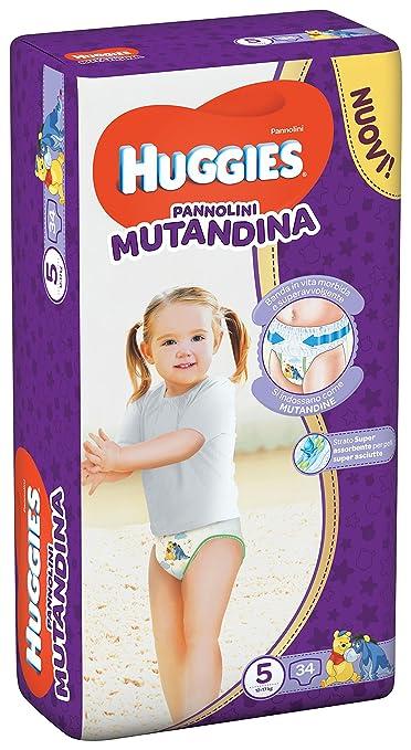 2 opinioni per Huggies Pannolino Mutandina, Taglia 5 (12-17 Kg), 1 Pacco da 34 Pezzi