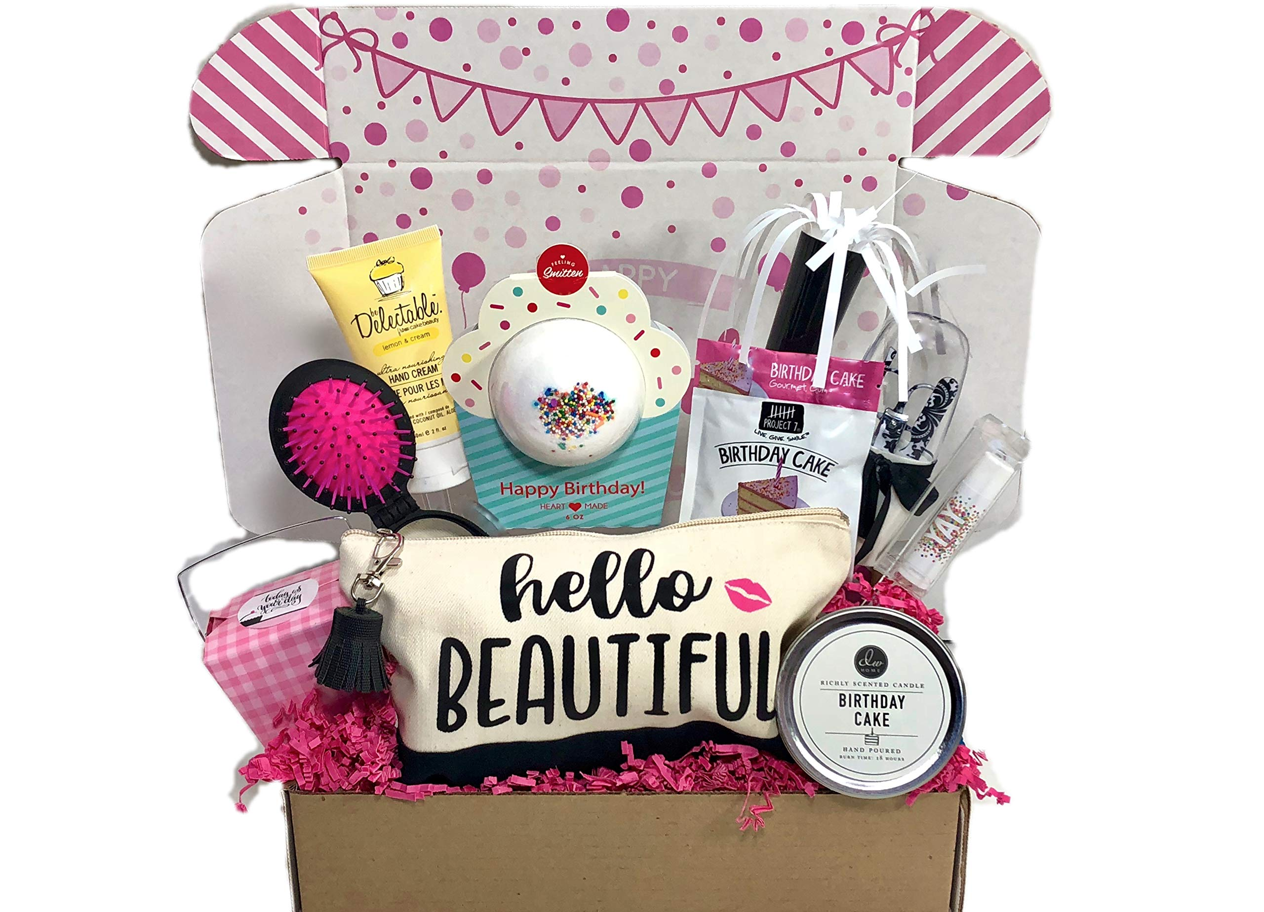 Complete Birthday Gift Basket Box For Her Women Mom Aunt Sister Or