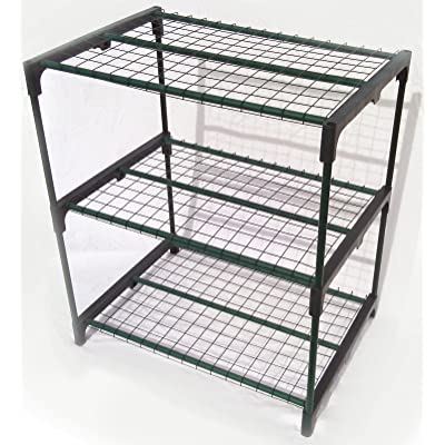 Zenport SH3222A 3-Tier Greenhouse Plant Growing Rack : Racks For Seed Trays : Garden & Outdoor