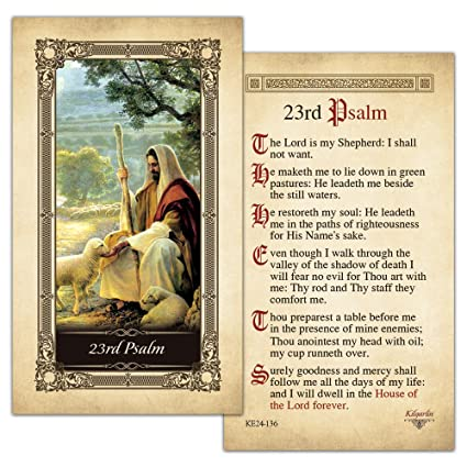 23rd Psalm Laminated Holy Card - Pack of 25