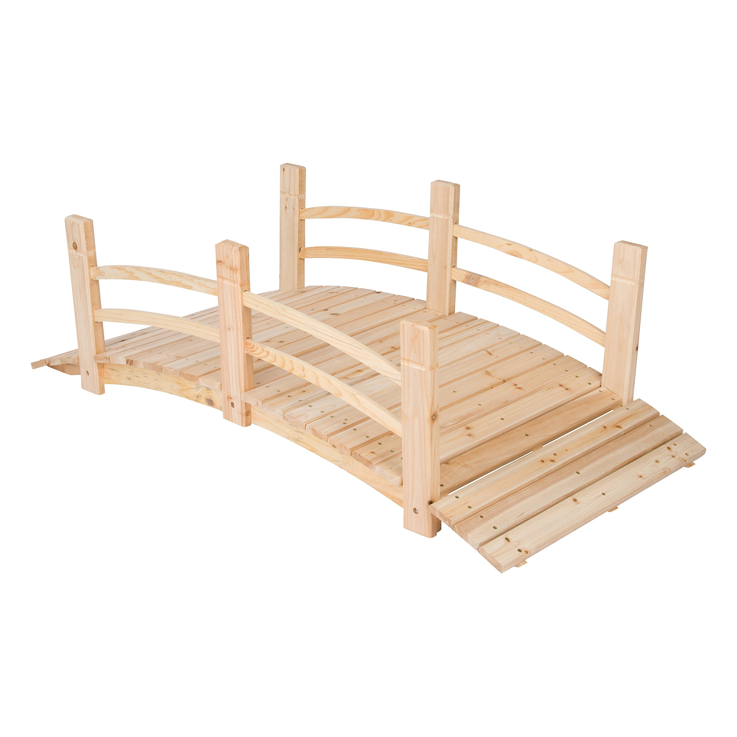 Shine Company 5 Ft. Cedar Garden Bridge, Natural by Shine Company Inc.