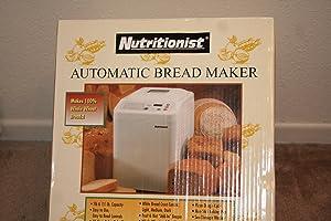 Nutritionist NTR440C Automatic Bread Maker 1 1/2 Lb. Breadmaker