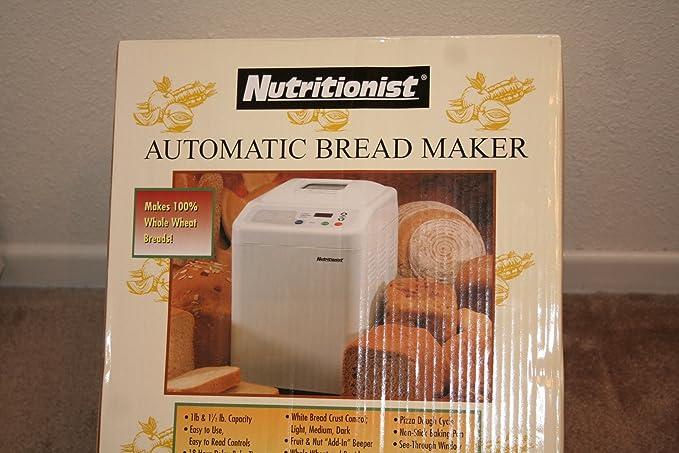 Amazon.com: Nutricionista ntr440 C automático del Pan Maker ...