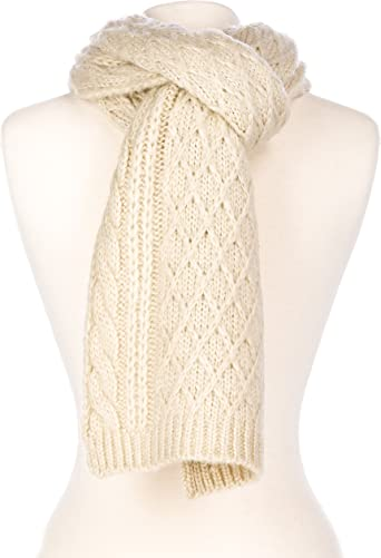 Noble Mount Mens Super-Soft Cable Knit Avalanche Winter Scarf