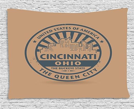 ABAKUHAUS Cincinnati Tapiz de Pared, El İcono De La Reina del ...