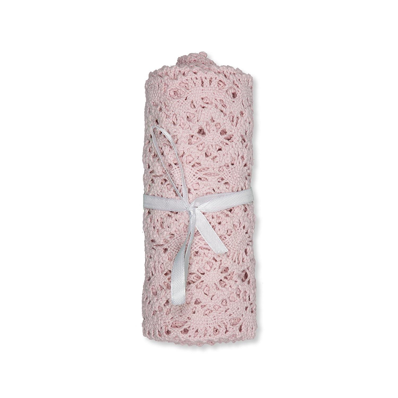 H/äkelspitze aus Baumwolle Breite 15 cm L/änge 180 cm Farbe rosa ros/è